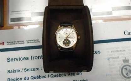 Контрабандные часы. Фото: instagram CBSA