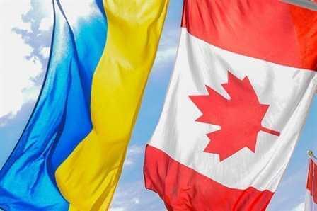 canada ukraine flags