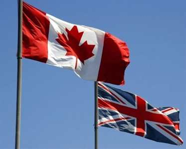 canada and uk flag