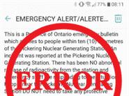 Emergency alert sent by error